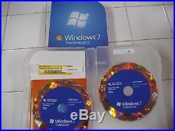Microsoft Windows 7 Professional 32/64-Bit DVDs MS WIN PRO =NEW RETAIL BOX=