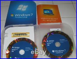Microsoft Windows 7 Professional Full 32 bit & 64 bit MS WIN PRO=RETAIL BOX=