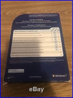 Microsoft Windows 7 Professional Full 32 bit & 64 bit MS WIN PRO =RETAIL BOX=