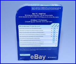 Microsoft Windows 7 Professional Pro FQC-00129 32/64 bit retail NEW GENUINE