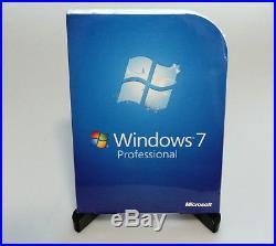 Microsoft Windows 7 Professional Pro FQC-00129 SP1 32/64 bit retail NEW GENUINE