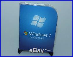 Microsoft Windows 7 Professional Pro FQC-00129 new sealed genuine