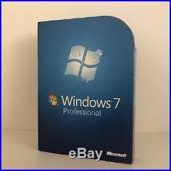 Microsoft Windows 7 Professional Retail Box 32 + 64 Bit Vollversion Ms Pro