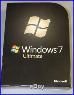 Microsoft Windows 7 Ultimate 32/64 Bit- Deutsch Hologramm CD -GLC-00205
