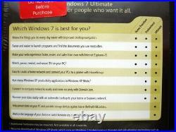 Microsoft Windows 7 Ultimate 32/64-bit DVD NEW GUARANTEED GENUINE FULL UK RETAIL