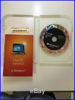 Microsoft Windows 7 Ultimate 32/64 bit Retail Box GLC-00225 Italian DVD Used