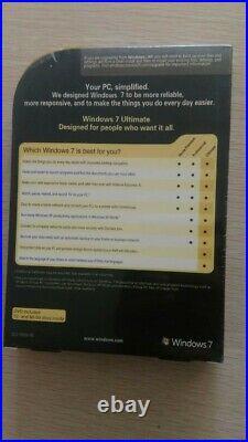 Microsoft Windows 7 Ultimate 32/64 bit Retail DVD