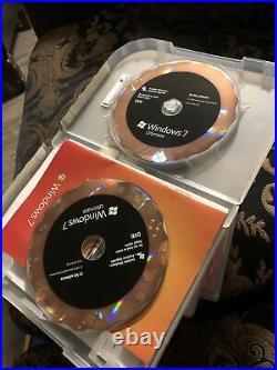 Microsoft Windows 7 Ultimate 32 Bit and 64 Bit DVDs MS WIN Full Retail Box Vers