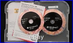 Microsoft Windows 7 Ultimate 32 bit 64 bit Operating System 100% GENUINE