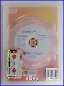 Microsoft Windows 7 Ultimate 64 Bit System Builder Vollversion Deutsch