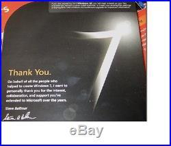 Microsoft Windows 7 Ultimate Commemorative Edition (Rare Collector Retail Box)