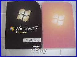 Microsoft Windows 7 Ultimate Full 32 Bit & 64 Bit DVDs MS WIN=NEW SEALED BOX=