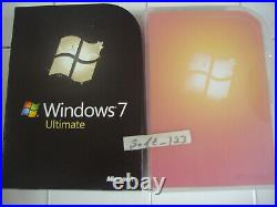 Microsoft Windows 7 Ultimate Full Retail 32 & 64 Bit DVDs MS WIN =SEALED BOX=