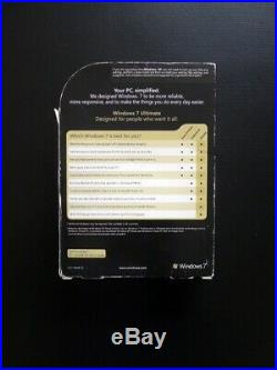 Microsoft Windows 7 Ultimate GUARANTEED GENUINE Full UK Retail 32/64-bit DVD