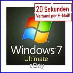 Microsoft Windows 7 Ultimate Key MS Win 7 32/64 Bit Vollversion Download Deutsch