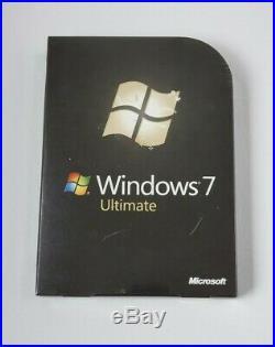 Microsoft Windows 7 Ultimate, SKU GLC-00182, Full Retail Sealed Box, 32&64-bit disk