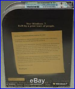 Microsoft Windows 7 Ultimate, SKU GLC-01464 Full Retail Box 32-bit 64-bit SEALED