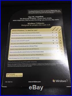 Microsoft Windows 7 Ultimate upgrade, Englisch mit MwSt Rechnung