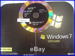 Microsoft Windows 7 Ultimate x64 64 bit DVD Full English Version =BRAND NEW=