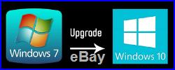 Microsoft Windows 7 auf nach 10 Professional Pro Prof Update Upgrade Code Key
