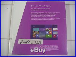 Microsoft Windows 8.1 Full English Version 32Bit & 64Bit DVD MS WIN 8=SEALED BOX