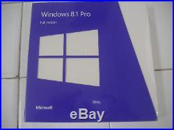 Microsoft Windows 8.1 Pro Full English Version 32 & 64Bit DVD MS =NEW & SEALED=