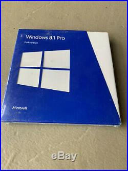Microsoft Windows 8.1 Pro Full FQC-06913 Sealed Retail Package 32 and 64 bit