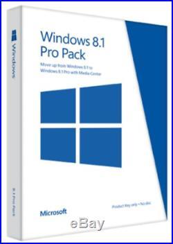 Microsoft Windows 8.1 Pro Pack (Win 8.1 to Win 8.1 Pro Upgrade)