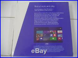Microsoft Windows 8.1 Profession Full Version 32 & 64Bit DVD MS PRO =SEALED BOX=