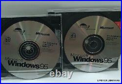 Microsoft Windows 95 Operating System CD Manual Product Key Upgrade + Boot LOT 6
