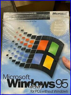 Microsoft Windows 95 for PCs without Windows 3.5 Disk #58431 New