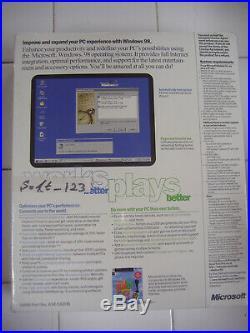 Microsoft Windows 98 Second Edition Full Operating System Win 98 Se =sealed Box