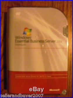 Microsoft Windows Essential Business Server 2008 Premium, SKU 6ZA-00099, Full, BNIB