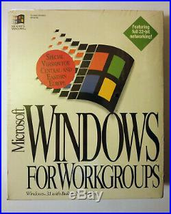 Microsoft Windows For Workgroups 3.11 Retail