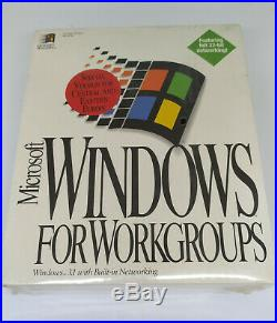 Microsoft Windows For Workgroups 3.11 Retail Unopened (collector's item!)