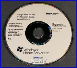 Microsoft Windows Home Server 2011 + 10 CAL Vollversion 64-Bit Box + DVD OVP