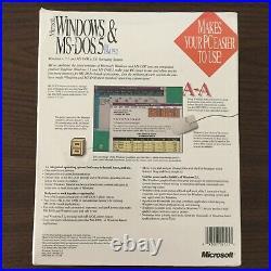Microsoft Windows &MS-DOS5 For IBM PS/2 Windows v. 3.1 MS-DOS v. 5.0