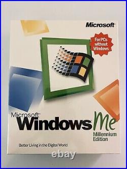 Microsoft Windows Me Full Version Ms Win Millennium =new Retail Box=