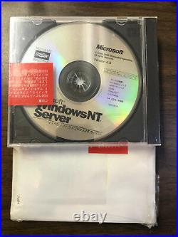 Microsoft Windows NT Server Full OS Japanese V4.0 on CD and Manual New