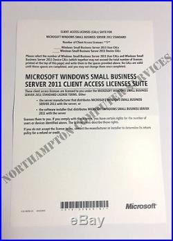 Microsoft Windows SBS 2011 Small Business Server HP ROK + 5 CALS 644257-B21
