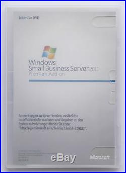Microsoft Windows SBS Small Business Server 2011 Premium Add-On inkl. 5 CAL