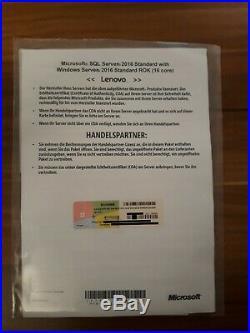Microsoft Windows SQL Server 2017 Standard + Server 2019 Standard 64bit 16Core