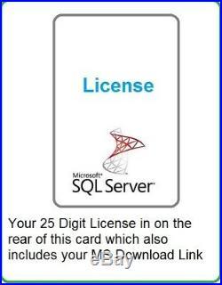 Microsoft Windows SQL Server STANDARD 2017 64BIT 16 CORES w 30 CALs RETAIL CARD