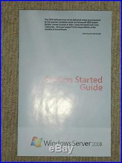 Microsoft Windows Server 2008 Oem Coa Product Key X64 Disk 5 Cal's + Dell 830