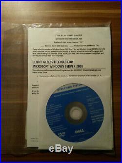 Microsoft Windows Server 2008 R2 Enterprise 64bit 1-8 CPU 10Cal English DELL