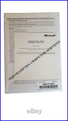 Microsoft Windows Server 2008 R2 HP ROK with 5 CALS NEW UNUSED 589275-B22