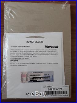 Microsoft Windows Server 2008 R2 Standard 64bit SP1 1-4 CPU 5Cal