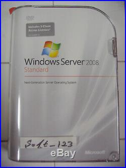Microsoft Windows Server 2008 Standard 64 & 32 Bit DVD with5 CAL MS WIN =RETAIL=
