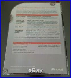 Microsoft Windows Server 2008 Standard Retail 32 64 bit 5 CAL NEW P73-03883