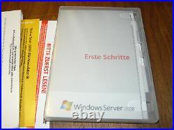 Microsoft Windows Server 2008 Standard SP2 1-4 CPUs deutsch komplett SB